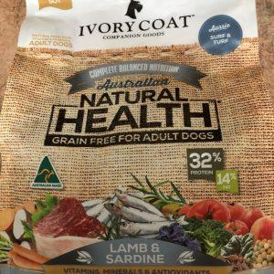 Ivory Coat grain free lamb and sardine 2kg bag