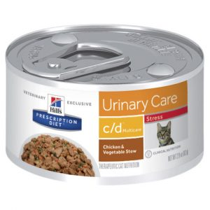 Hill's Prescription Diet c/d Multicare Stress Urinary Care Chicken & Vegetable Stew Canned Cat Food 82g Gippsland Veterinary Group