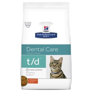 Hill's Prescription Diet t/d Dental Care Dry Cat Food 1.5kg Gippsland Veterinary Group