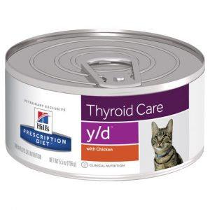 Hill's Prescription Diet y/d Thyroid Care Canned Cat Food 156g Gippsland Veterinary Group